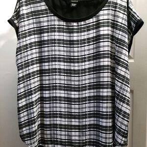 Sz 2x plaid blouse